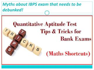 Myths about IBPS exam that needs to be debunked!