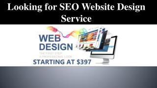 Looking for SEO Website Design Service