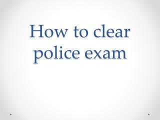 Police Coaching Centre in Chennai