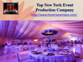 Top New York Event Production Company