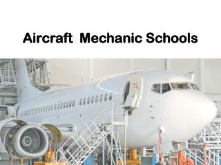 Aircraft Mechanic Schools