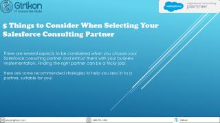 5 Things to Consider When Selecting Your Salesforce Consulting Partner