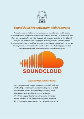 Soundcloud Monetization with Jamvana