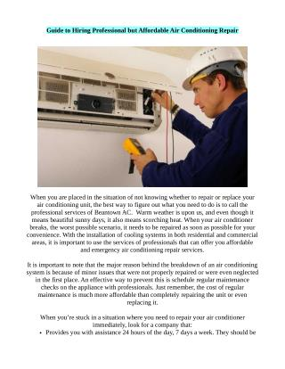 Professional Assistance for Heating and Cooling Repair Service