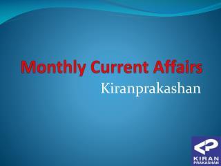 Buy Monthly Current Affairs at kiranprakashan