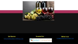 Wine Enthusiasts Email List