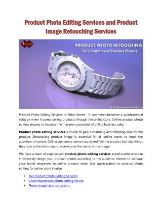 Product Photo Editing Services and Product Image Retouching Services