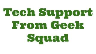 Tech Support From Geek Squad