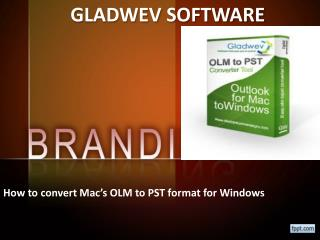 How to convert OLM File to PST File