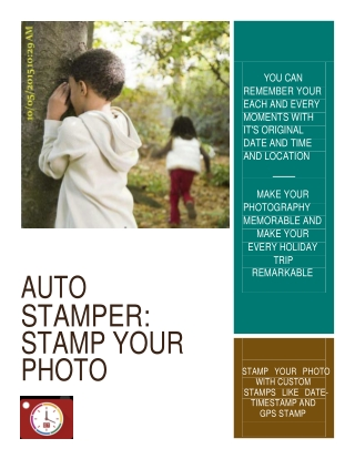Stamp your photo with date and time