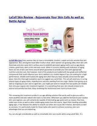 La Cell Skin Care Pricing & Return Plan?