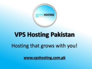 VPS Hosting Pakistan