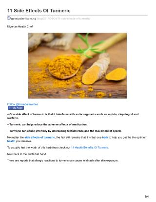 11 Side Effects Of Turmeric