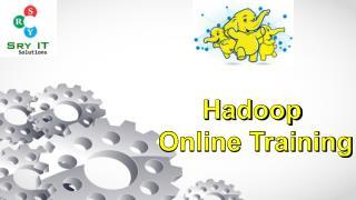Become Expert Hadoop Developer Join Hadoop Training Online
