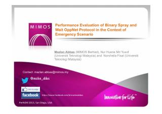 Performance Evaluation of Binary Spray and Wait OppNet Protocol in the Context of Emergency Scenario