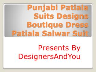 Latest Punjabi Patiala Suits Designs | Shahi Boutique Dress Patiala Salwar Suit Neck Designs For Girls