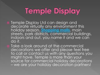 Holiday Decoration Accessories - Templedisplay.com