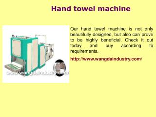 Towel paper roll machine