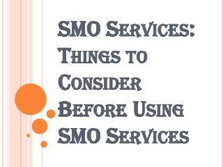 Branding Your Business Through SMO Services