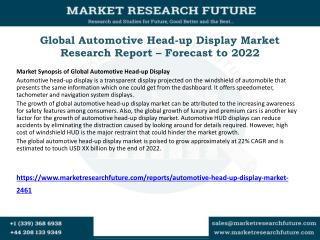 Global Automotive Head-up Display Market Research Report – Forecast to 2022