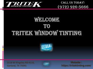 Dallas commercial window tinting