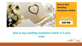 How to buy wedding invitations online in 5 easy steps