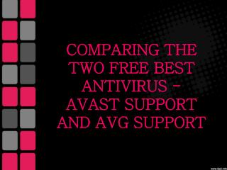Comparing the Two Free Best Antivirus - Avast Support and AVG Support