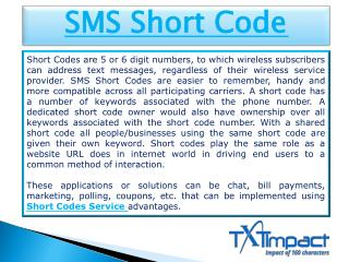 Short Codes Service | Free Short Codes | SMS Short Code Service