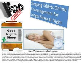 Sleeping Pills Available at FDA Approved Pharmacy Store in UK