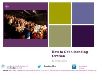 Speaker's Tips - How to get a standing ovation