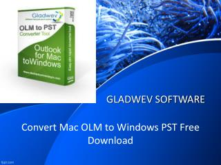 OLM to PST Converter free app