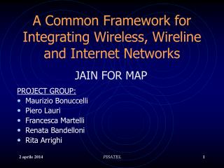 A Common Framework for Integrating Wireless, Wireline and Internet Networks