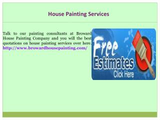 Painting Company In Broward