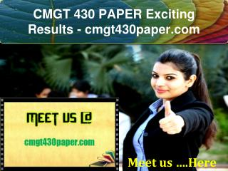 CMGT 430 PAPER Exciting Results / cmgt430paper.com