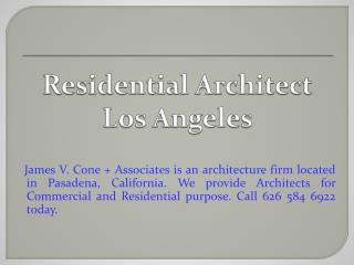 Residential Architect Los Angeles