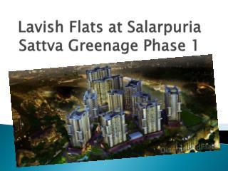 Lavish Flats at Salarpuria Sattva Greenage at Hosur Road