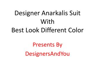 Latest Designer Anarkali Suits | Indian Party Wear Dresses BY DNU