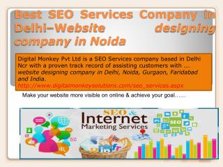 Best SEO Services Company in Delhi - website designing company in Noida