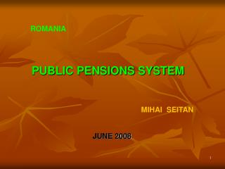 PUBLIC PENSIONS SYSTEM