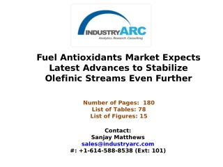 Fuel Antioxidants Market Set to Focus on Development of  Fuel Stabilization Solutions