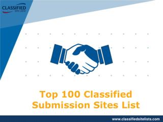 Top 100 Classified Submission Sites List 2017