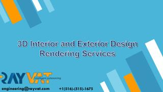 3D Interior and Exterior Design Rendering Services
