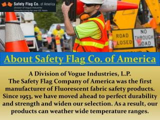 About Safety Flag Co. of America