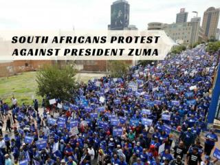 South Africans protest against President Zuma