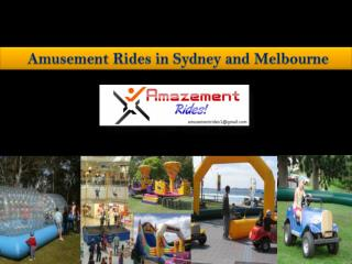 Best Amusement Rides For Hire at Sydney