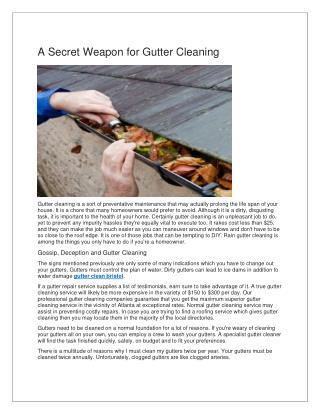 gutter cleaning bristol