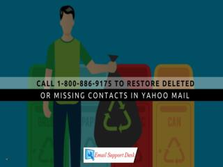To Restore Deleted Or Missing Contacts In Yahoo Mail