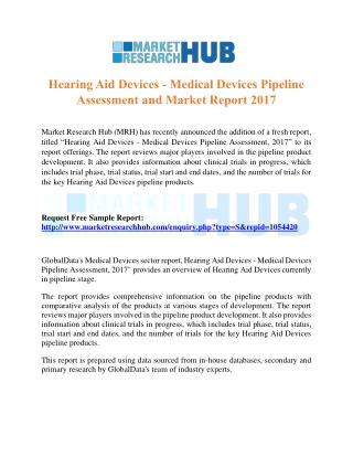 Hearing Aid Devices - Medical Devices Pipeline Assessment and Market Report 2017
