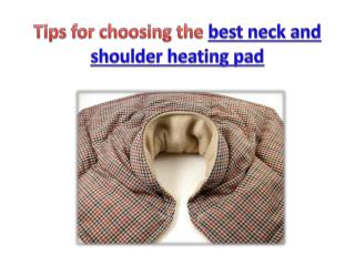 The best neck and shoulder heating pads