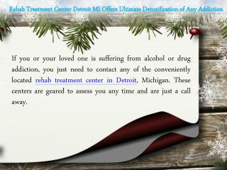 Rehab Treatment Center Detroit MI